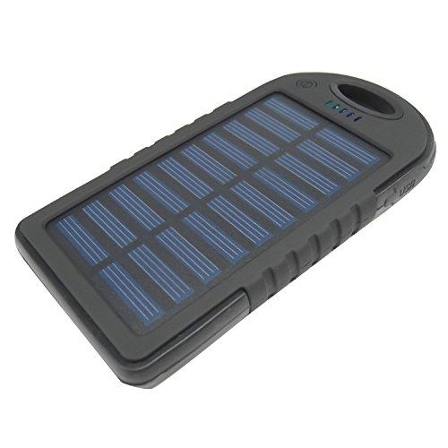 HyperPS - PS4000 Black - Solar Panel Charger 4000mAh Rain/ Shock/ Dust Resistant Portable Backup...