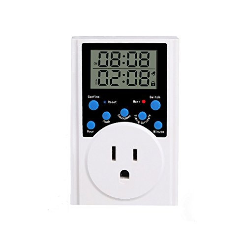 timer switch socket, multi function digital programmable timer switch socket electrical plug infinite loop 15A/dm2 , 1800W (1 pack)