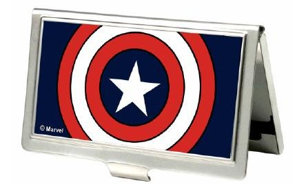 Buckle-Down Business Card Holder - Captain America Pose w/Marvel Comics Logo - Small by Buckle Down (Image #1)