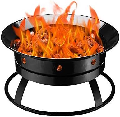 Outdoor Fire Pit Enamel Propane Gas Firebowl for Outside Patio