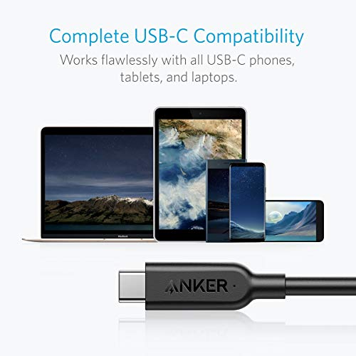 Anker Powerline II USB-C to USB-C 3.1 Gen 2 Cable (3ft) with Power Delivery, for Apple MacBook, Huawei Matebook, iPad Pro 2020, Chromebook, Pixel, Switch, and More Type-C Devices/Laptops