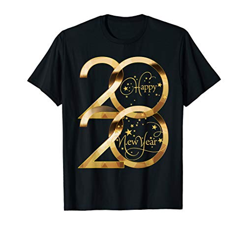 Happy New Year 2020 Shirt New Years Eve Party Supplies T-Shirt