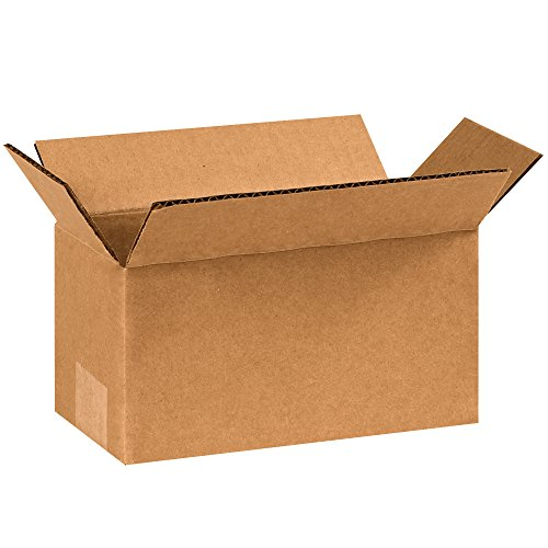 "Partners Brand P844 Corrugated Boxes, 8""L x 4""W x 4""H, Kraft (Pack of 25)"