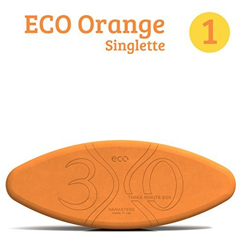 Yoga Block Singlette - 1 Yoga Egg - ECO Orange - Made in USA - by Three Minute - The In Block Orange