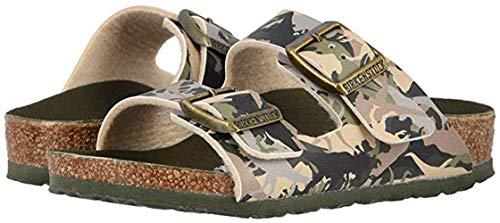 (Birkenstock Boys Arizona Sandals, Dino Camo Khaki, Size 29 N EU (11-11.5 N US Little Kid))