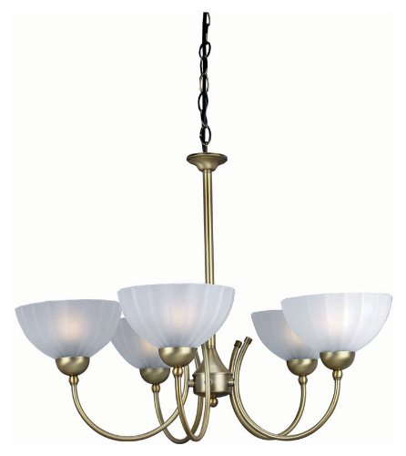 (Lite Source LS-14155BRZ/FRO Alani 5-Lite Ceiling Lamp, Bronze with Frosted Glass)