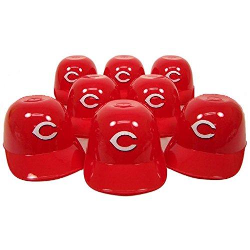 Cincinnati Reds Mini Batting Helmet (MLB Mini Batting Helmet Ice Cream Sundae/ Snack Bowls-8 Pack (Cincinnati)