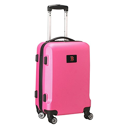 MLB Boston Red Sox Carry-On Hardcase Spinner, Pink by Denco
