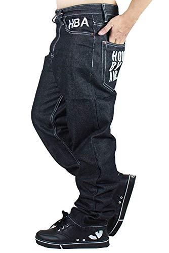 Ballo Uomo Da Abiti In Casual Pantaloni Confortevoli Comode Classico Stile hop Classici Larghi Denim Bblack Taglie Di Aladdin Jeans Hip aqBCEtwE