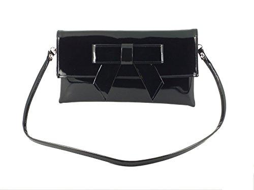 Cute bag Shoulder Grey Clutch Leather LONI Bag Faux Womens Patent S45P5g