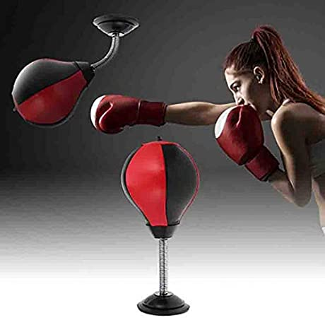 Desktop Punching Ball Boxing Punch Bags Stress Relieve Remover Gifts Toys UK
