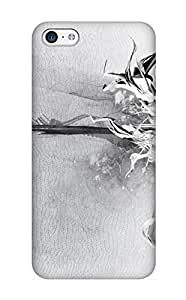 Hot Snap-on Abstract White Black Abstract Color Shapes Patterns Shades Texture Artistic Hard Cover Case/ Protective Case For Iphone 5c
