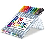 Staedtler Triplus Fineliner 0.3 mm Porous Point Pen 334 - SB10, 10 pack