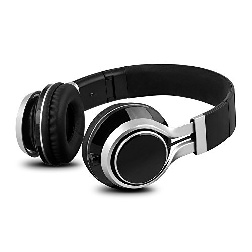 YHhao Over-Ear Headphones, On-Ear Headsets Noise Cancelling Foldable Headphones with Mic and 3.5mm Detachable Cord for iPhone, iPad, Android Smartphones, PC, Computer, Laptop, Mac, Tablet, Black by YHhao (Image #1)