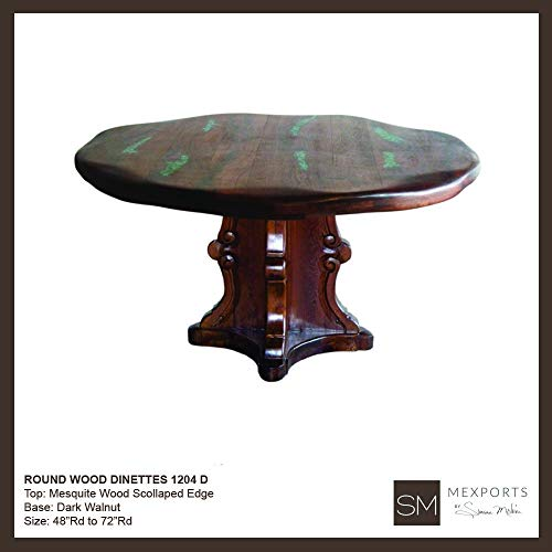 Rustic Elegant Dining Table with a Wooden Base and Stylized with a 60