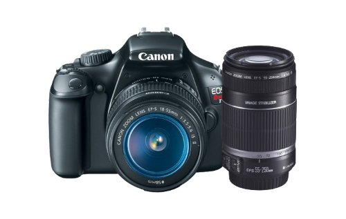 Canon EOS Rebel T3 12.2 MP CMOS Digital SLR with 18-55mm IS II Lens + Canon EF-S 55-250mm f/4.0-5.6 IS Telephoto Zoom Lens, Best Gadgets