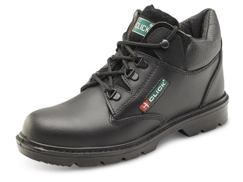 Click Mid Cut Safety Boot Black - Size 10