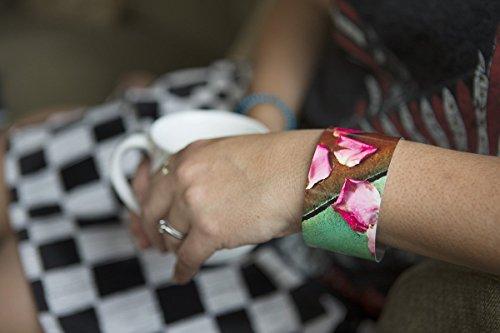 Cheap  Pretty Patio Petals photo cuff bracelet