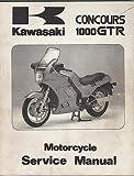 1986-97 KAWASAKI MOTORCYCLE CONCOURS 1000 GTR SERVICE MANUAL 99924-1065-09 (416)