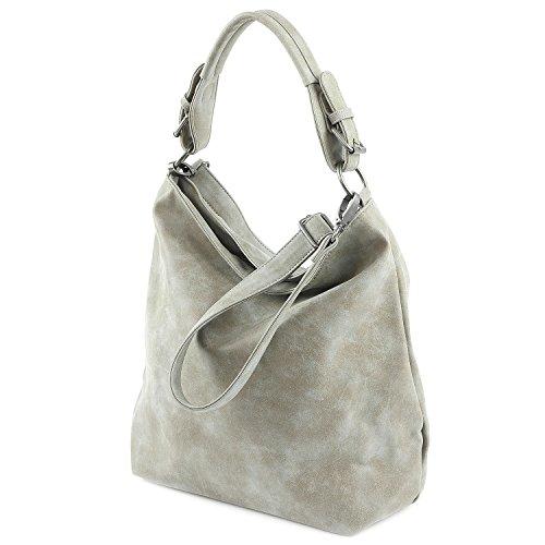 Fritzi aus Preußen Lovis Vintage Shopper Tasche 45 cm Grau