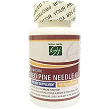 Hippo Herbs Supreme Red Pine Needle Oil 490mg (60 Veggie Softgels) 100% Red Pine Oil Super Antioxidants Support Immune System Health | Natural