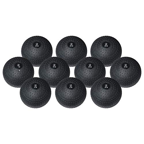 FIT1ST Fitness First Slam Ball, Easy-Grip, Weight Training Crossfit WOD (40 LBS)