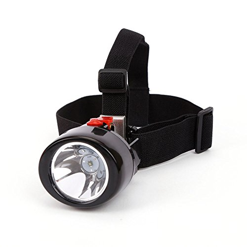 Mining Cap Headlight Lamp KL3.0LM Rechargeable Wireless LED Miners Head Light Flashlight for Hunting Night Fishing Camping Waterproof Explosion Proof (Red)