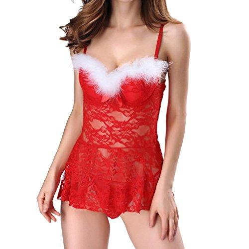 velluto Body pizzo donna Bambolette Nero di Abito Donne da Mesh Donne Teddy notte Intima Trasparente vestaglia Morwind da con chemise in rosso Rosso a coste 1OwZqE