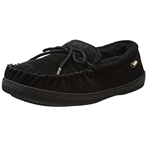 Lamo Men's Moc Shoes, Moccasin, Chocolate