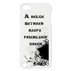 A hedge between keeps friendship green Picture Design Snap-on Hard Plastic Protective Durable Back Case Cover Shell for iPod touch 5th-1