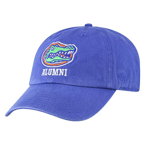 Top of the World NCAA-Alumni-Cotton Crew-Adult Adjustable Strapback-Hat Cap (Florida Gators-Blue, Adjustable)