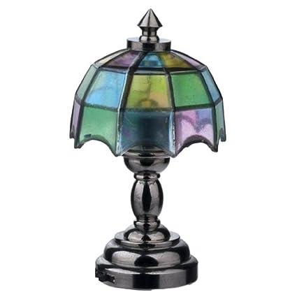 Amazon.com: Dollhouse miniatura Keswick Tiffany lámpara de ...