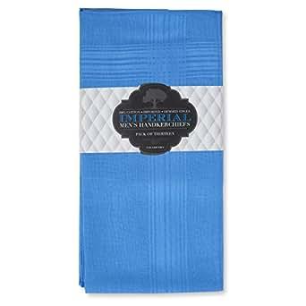 Imperial 13 Pack Men's Fine Handkerchiefs 100% Cotton (blue)