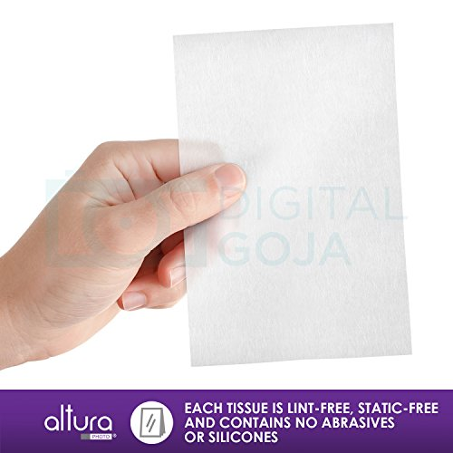 (250 Sheets / 5 Booklets) – Altura Photo Lens Cleaning Tissue Paper + MagicFiber Microfiber Cleaning Cloth