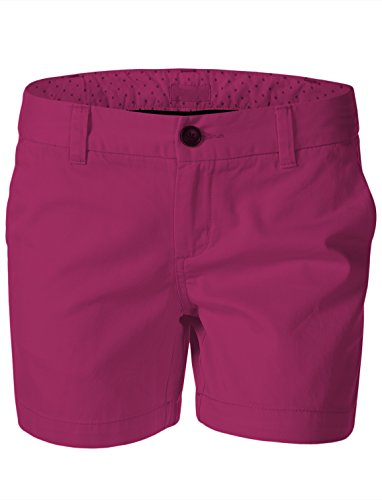 Magenta Short - 7 Encounter Women's Low Rise Casual Stretch Cotton Chino 5