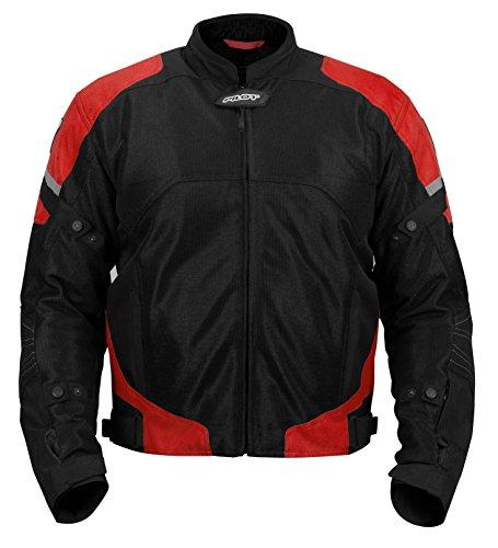 Pilot Motosport Men's Direct Air Mesh Motorcycle Jacket (V3) (Red, Large)