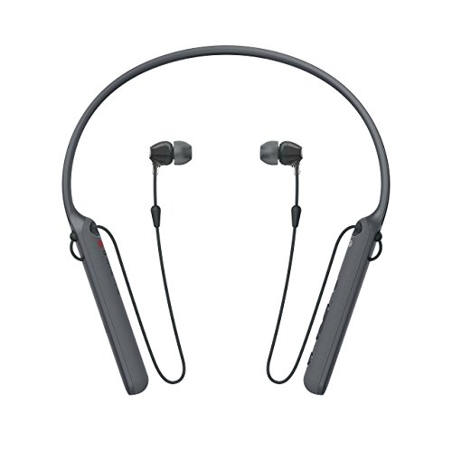 Sony - C400 Wireless Behind-Neck In Ear Headphone Black (WIC400/B) (Certified Refurbished) by Sony