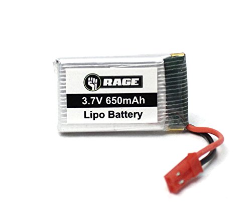 Rage RC 4054 1S 3.7V 650mAh Lipo Battery Stinger 240 Replacement Parts
