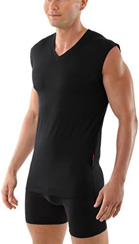 ALBERT KREUZ Camiseta Interior Negra para Hombre con Cuello de ...