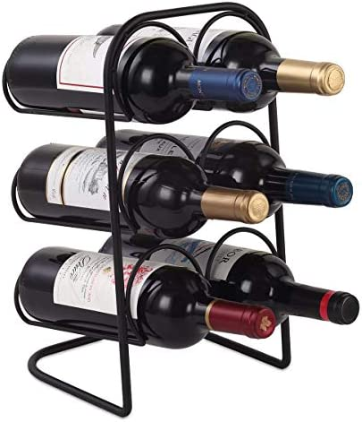 Buruis Metal Curved Wine Rack