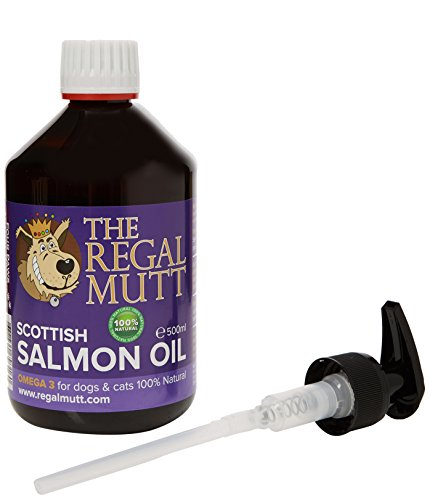 The Regal Mutt - 500 ml Salmon Fish Oil for Dogs  Charity Donation to Four...