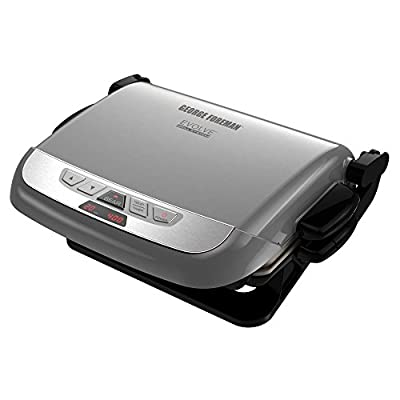 George Foreman GRP4800R 4-in-1 Multi-Plate Evolve Grill, Electric Grill, (Panini Press, Grilling, Baking, and Cupcake Plates Included),