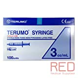 Terumo Hypodermic Syringes without Needle - 3cc Slip Tip - Box of 100 (3mL)