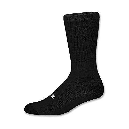 Champion Double Dry Performance Men's Crew Socks 12-Pack_Black_10-13 (Double Sole Sock)