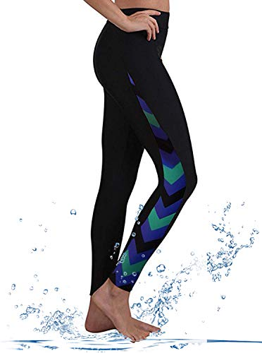 GEEK LIGHTING Womens Wetsuit Pants UV Protective Surfing Tights Board Diving Canoing Pants (Wave, Large) ()