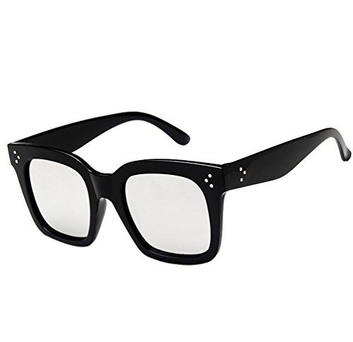 Marco Plateado Oversized Gafas Unisex Sol Gafas Cuadradas Moda Ketamyy De Retro Salvaje De Negro wOS1H