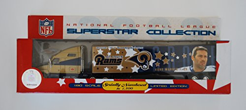 2002 Fleer NFL SUPERSTAR COLLECTION - ST. LOUIS RAMS - KURT WARNER - 1:80 SCALE Diecast Truck