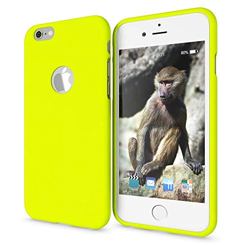NALIA Case Compatible with iPhone 6 6S, Phone Cover, Ultra-Thin TPU Neon Silicone Back Protector Rubber Soft Skin, Protective Shockproof Slim Gel Bumper Smartphone Back-Case, Color:Yellow