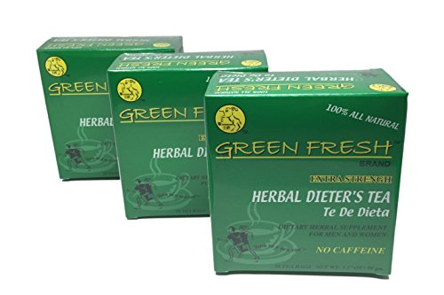 Herbal Dieters Tea (Extra Strengh / 30-ct) - 3.17oz (Pack of 3) - Ephedra Appetite Suppressant