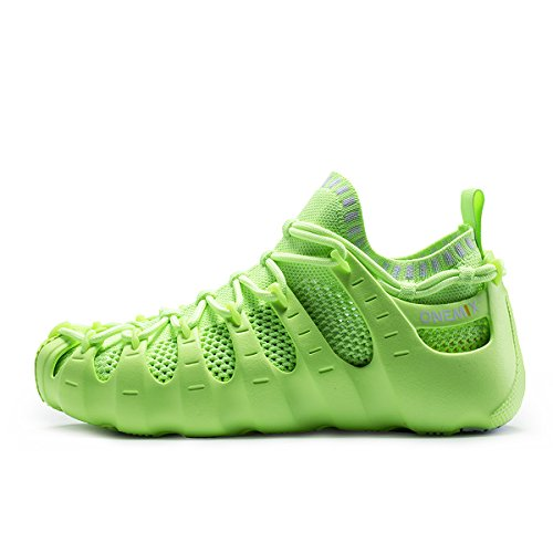 2016 New Women Sneakers Breathable Mesh Light Running Shoes (Green) - 4